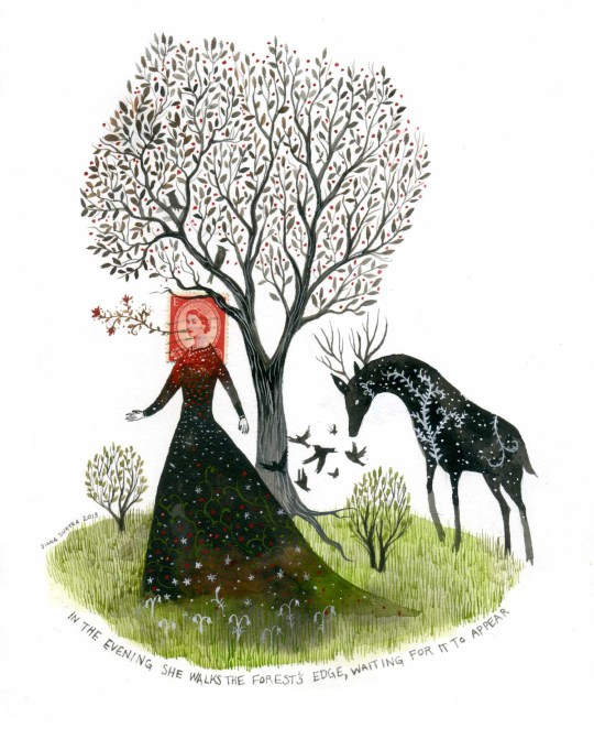 Diana Sudyka crée des illustrations insolites en détournant des timbres postaux