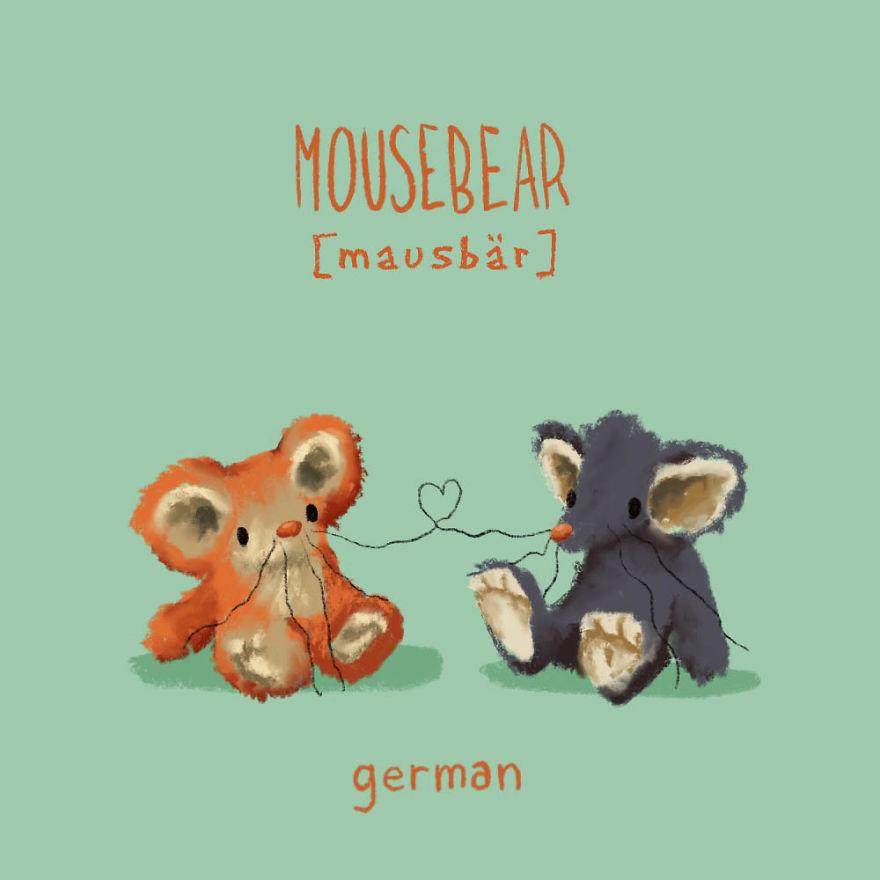 Il illustre la signification des mots doux dans 15 langues différentes
