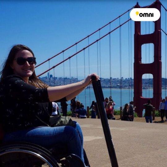 Omni fixation trottinette électrique à un fauteuil roulant