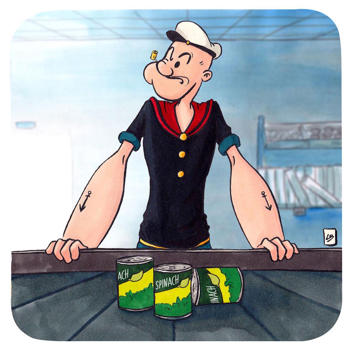 Popeye épinards Linda Bouderbala