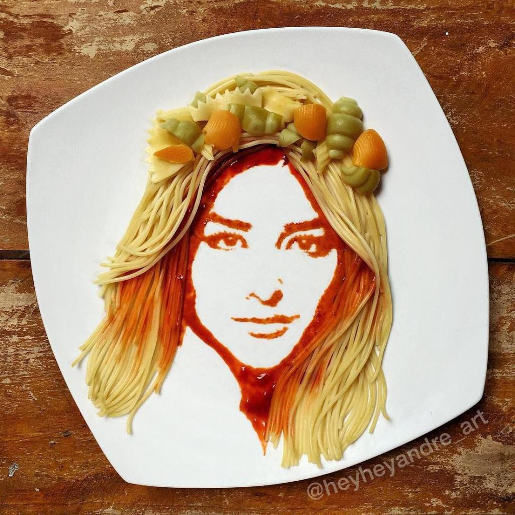 André Manguba Food Art Portrait