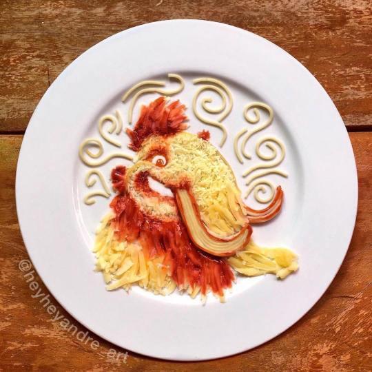 André Manguba Food Art Portrait