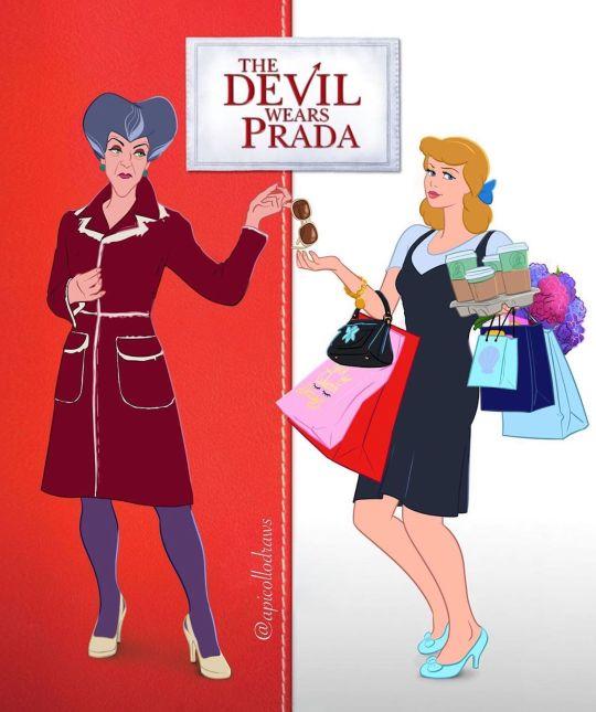 Les affiches de films avec des personnages Disney