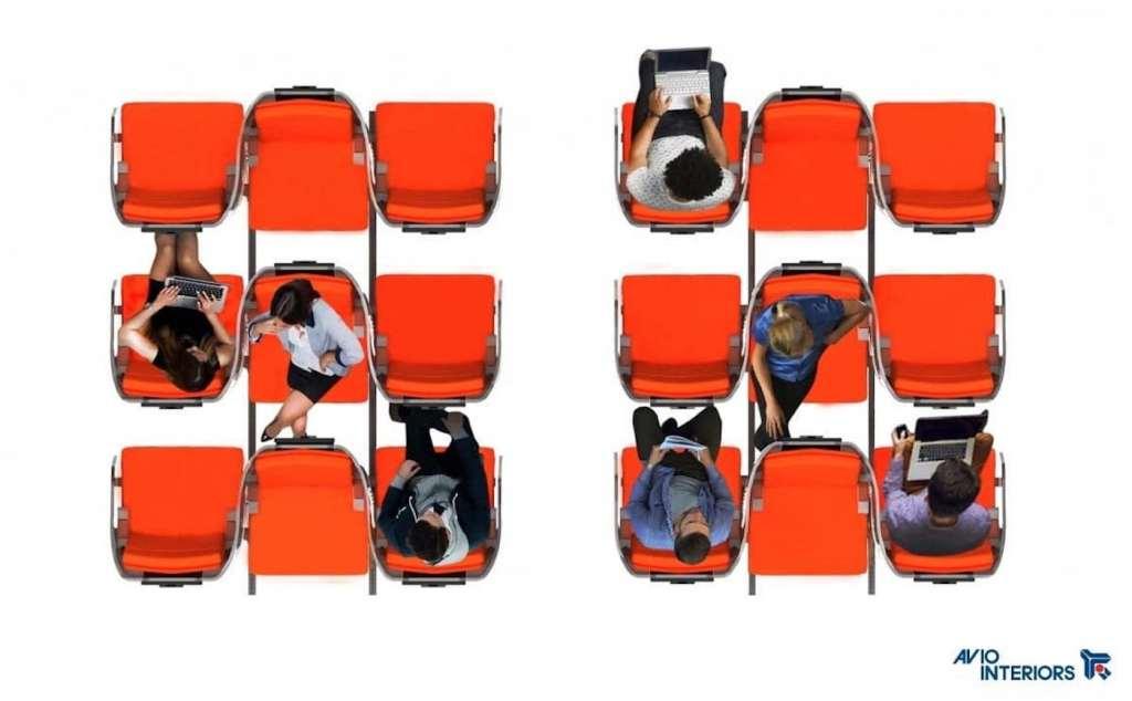Des sièges d'avion conçus pour limiter la propagation du coronavirus