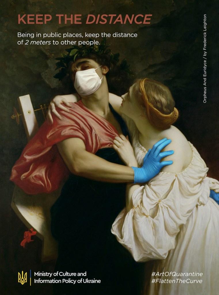 """Détournement du tableau """"Orpheus and Eurydice"""" par Frederic Leighton"""