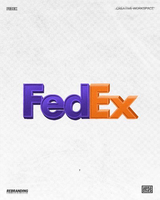 Logo de FedEx rebrandé par de2s