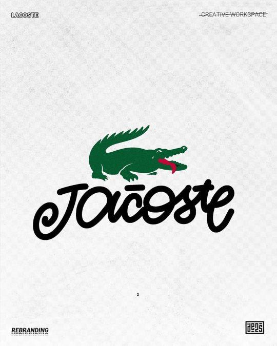 Logo de Lacoste rebrandé par de2s