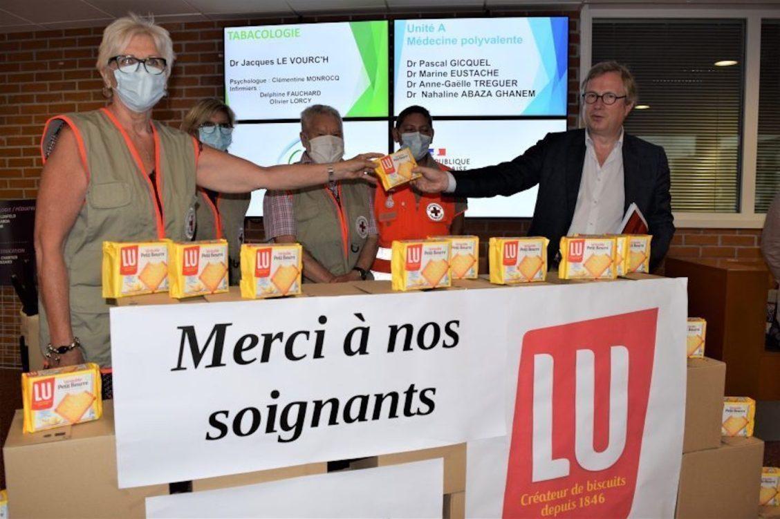 LU dévoile un petit beurre en hommage aux soignants