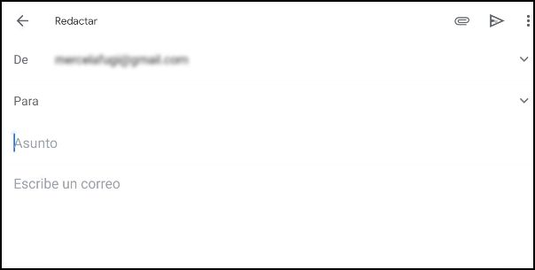 redactar mensaje Gmail