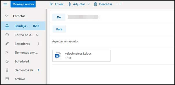 Documento adjunto Outlook