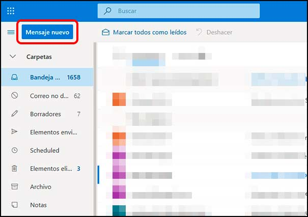 Nuevo correo Outlook