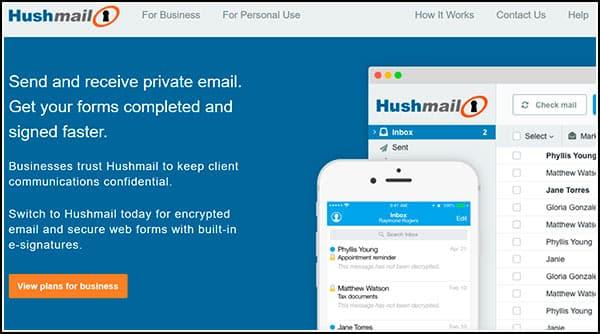 Correo HushMail