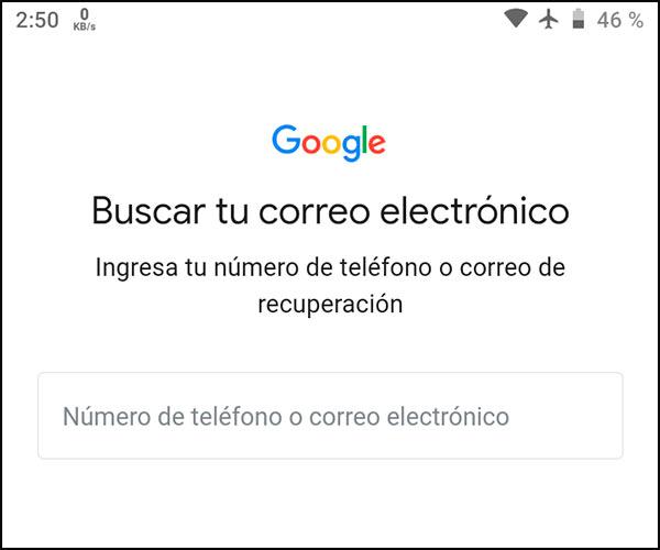 Recuperar Gmail