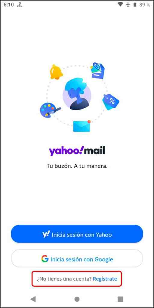 Registrarse Yahoo Mail