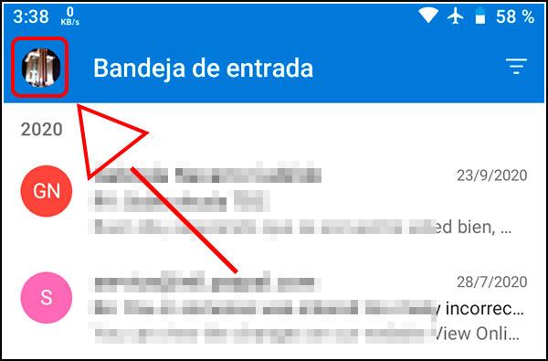 Imagen Outlook aplicación