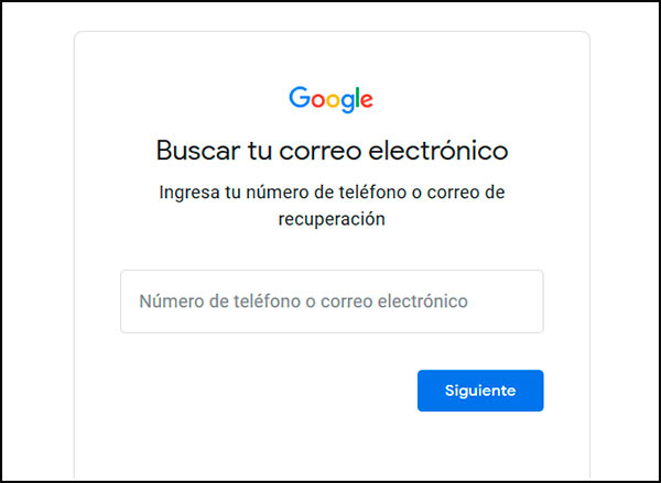 Buscar correo de Gmail