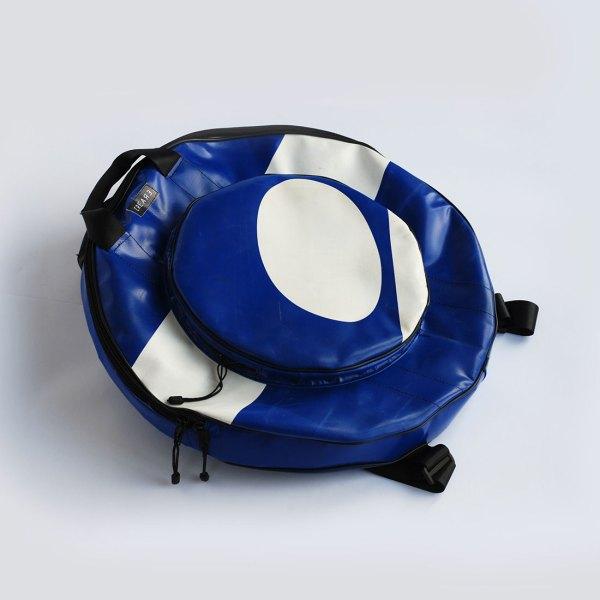 www.crearebags.com eco cymbal bag blu white