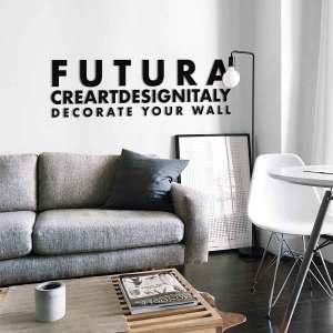 FUTURA BLACK - Lettere decorative in Plexiglass nero di CreArtDesignItaly.com con font FUTURA da applicare a muro o da appoggiare su un piano o libreria