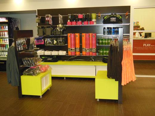 Creatacor Designs Retail Displays for VENT Fitness