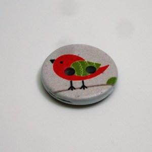 Botó ocell vermell Crea't