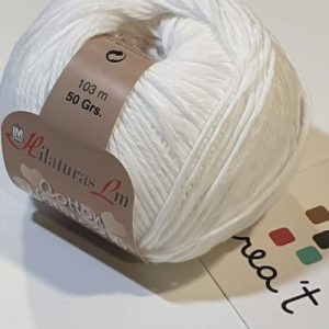 3,5 cotton Nature blanc LM Crea't