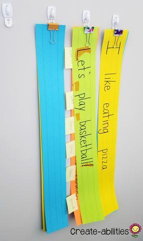 sentence strips organization
