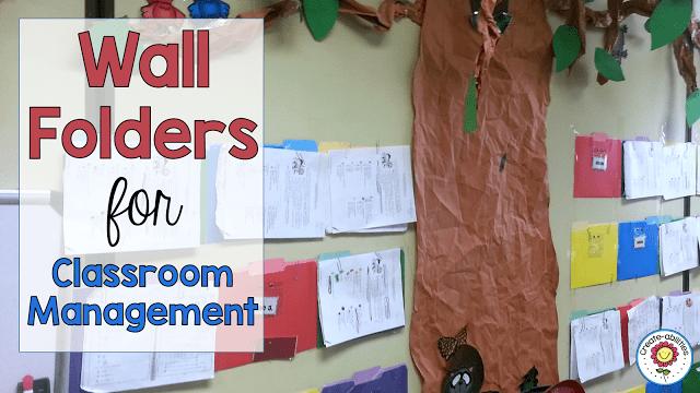 Wall Folders Classroom Management