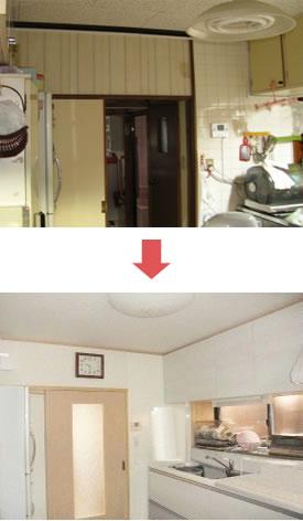 建具も取替え、明るく快適な空間へリフォーム