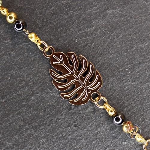 bracelet-doré-feuille-hematite