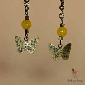 Boucles d'Oreilles Papillon Citrine