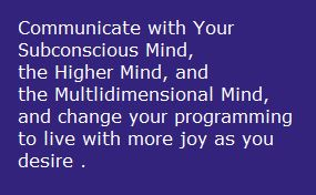 coommunicate with subconscious mind