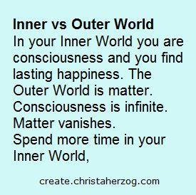 inner vs outer world