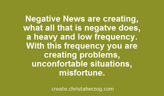 Negative News are Creating Negatives