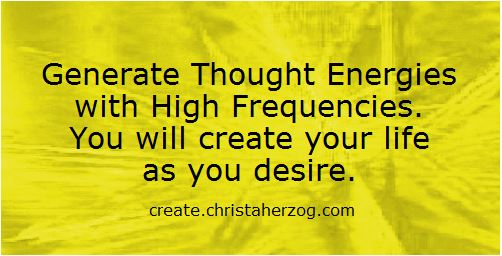 Generate Thought Energy with High Frequencies