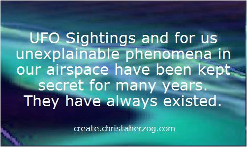 UFO Sightings and Phenomena in the air