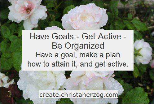 Have goals get active and organized