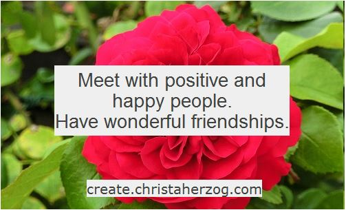 Meet positive and happy people