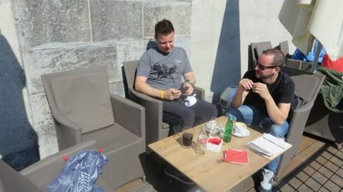 Frühstück in Laibach
