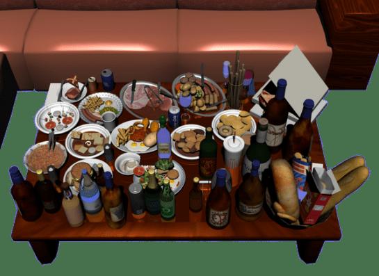3dでパーティーテーブル