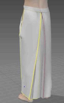 和泉守兼定の服を作る,和泉守兼定を作る,3d服作成,袴作成