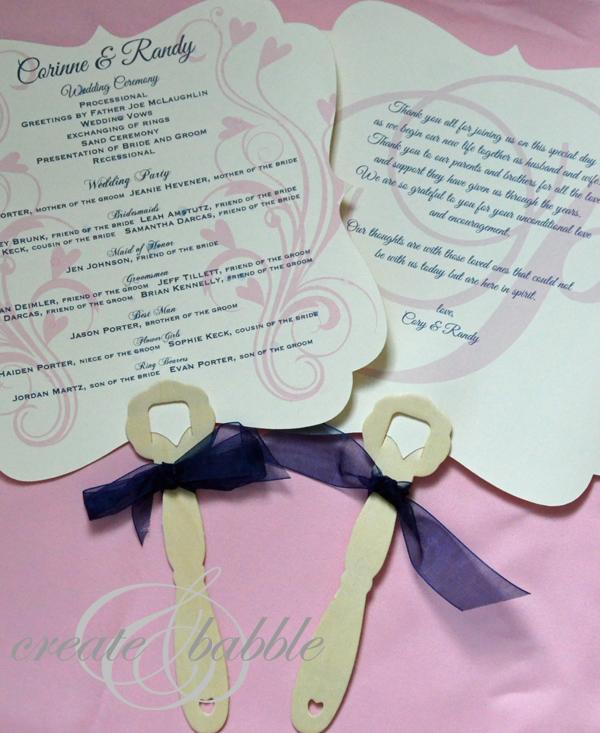 DIY Wedding Programs  Create and Babble