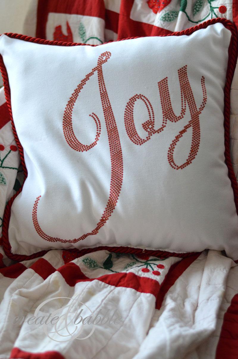 Silhouette Tutorial Glitter Vinyl Christmas Pillow