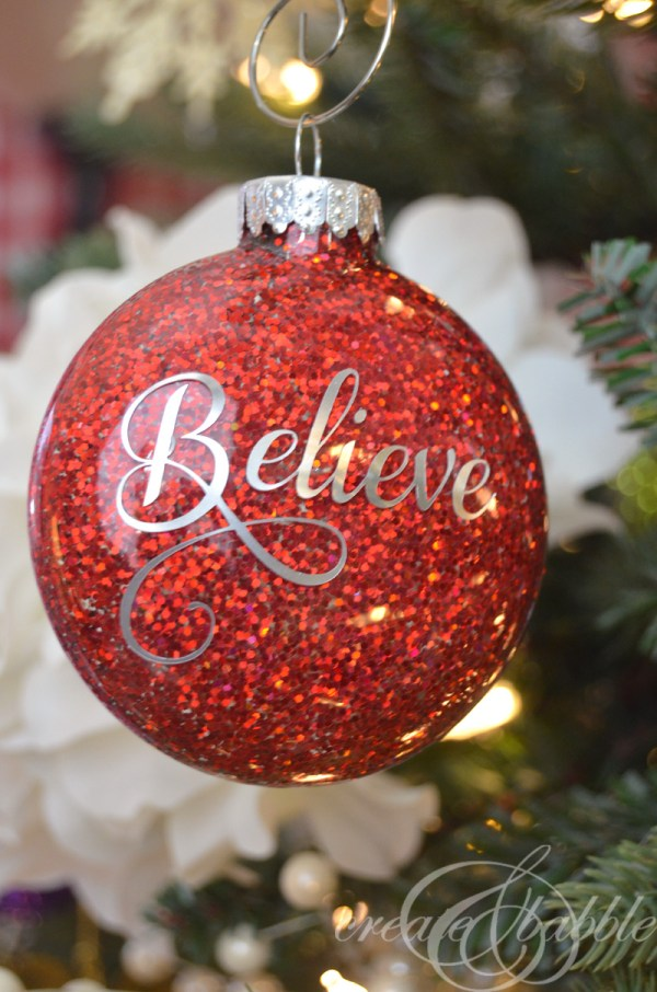 DIY Glitter Christmas Ornaments Create and Babble