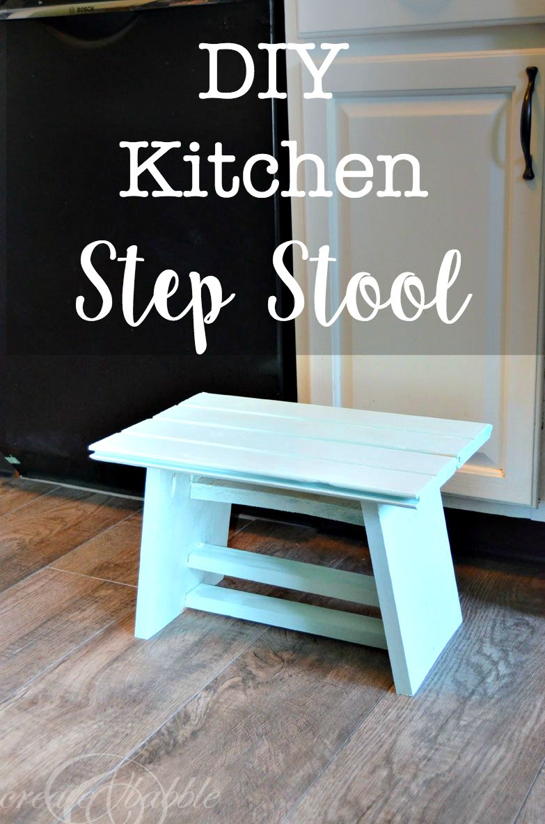DIY Kitchen Step Stool  Create and Babble