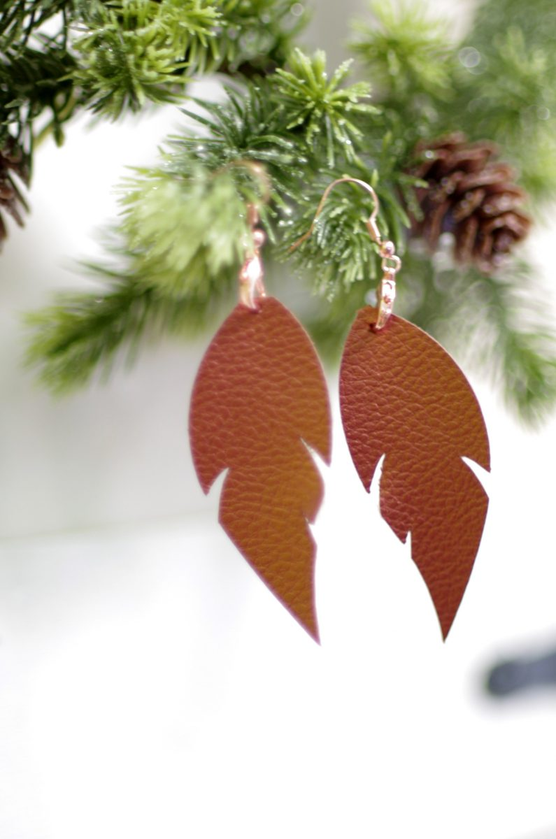 We'll tell you where to buy a christmas tree with even the busiest lifestyle. Cricut Made Gift Idea Faux Leather Earrings Create And Babble