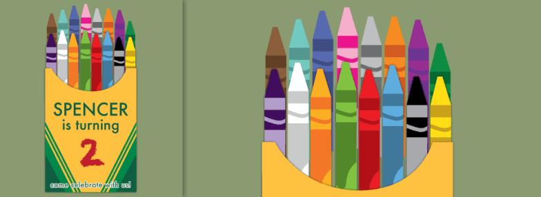 Crayola Crayon Invitation | Create&Capture
