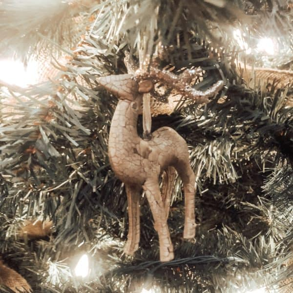 Maker's Holiday Christmas Woodland Lodge Reindeer Ornament from JoAnn Fabrics   Rustic Refresh for our Christmas Tree Create&Capture