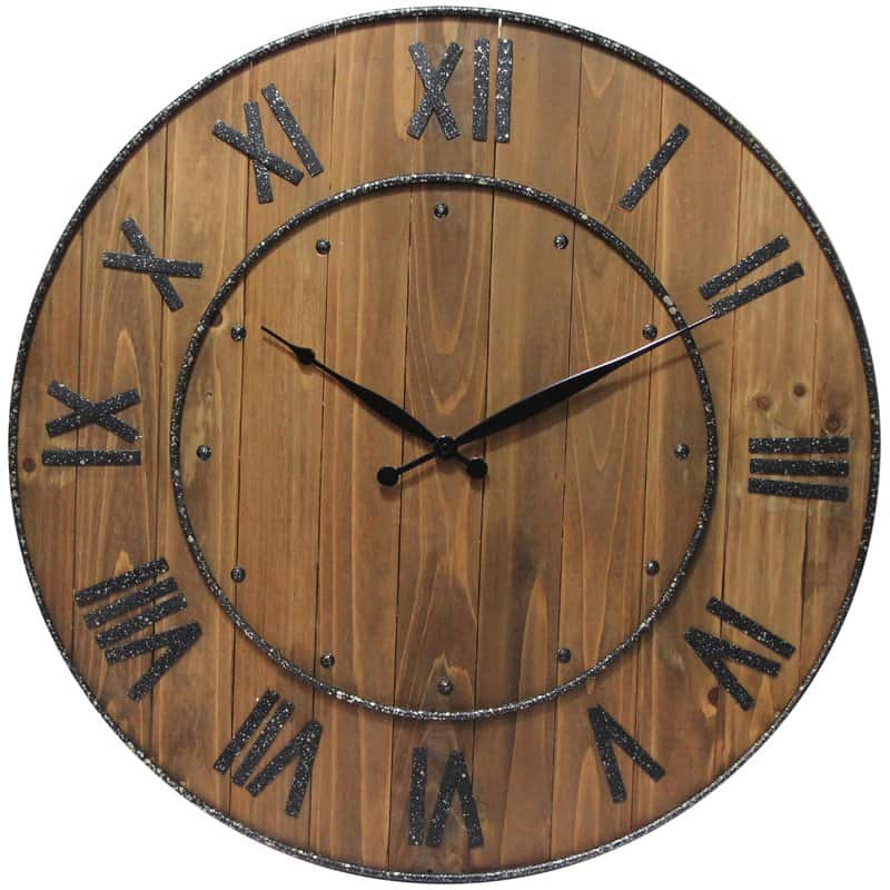 "Northrop Wine Barrel 24"" Wall Clock"