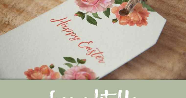 Free Editable Floral Easter Tags