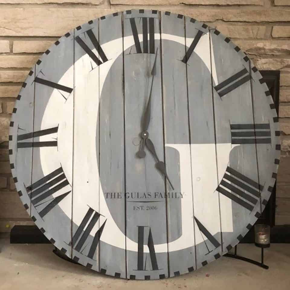 Personalized Oversized Wall Clock
